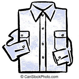 A folded business shirt