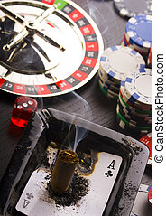 Casino - Roulette and Chips - Casino - a place where you can...