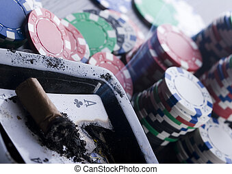 Casino chips - Casino - a place where you can win or lose...