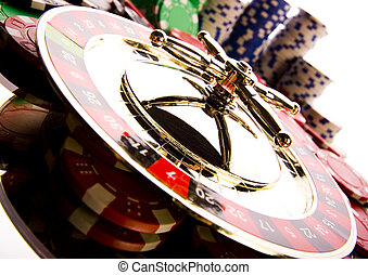 Roulette and Chips - Casino - a place where you can win or...
