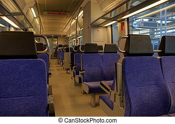 Metro seats in the Athens underground railway