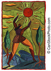 woman reaching for the sun