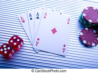 Poker - Casino - a place where you can win or lose money.