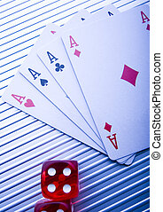 Cards  - Casino - a place where you can win or lose money.