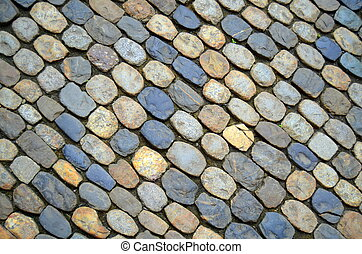 Cobbled Street - A Background Texture Of A Cobblestone...