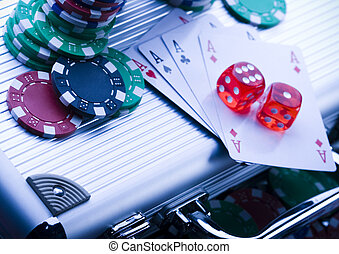 Cards & Chips - Casino - a place where you can win or lose...