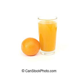 orange juice and slice