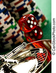 Roulette - Casino - a place where you can win or lose money.