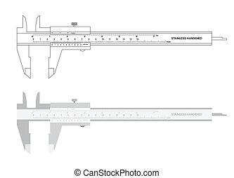 Vernier caliper tool vector illustration - Vernier caliper...