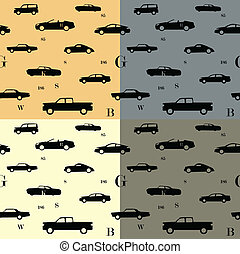 City cars seamless pattern