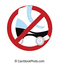 No roller skating sign isolated on white Vector illustration...
