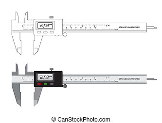 Vernier caliper digital tool vector illustration - Vernier...