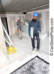 duo of plasterers