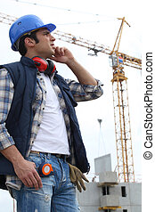 Cran on construction site