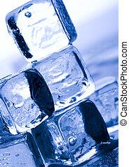 Cristales, hielo, cubos