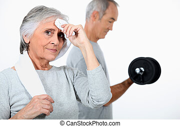 Seniors at the gym