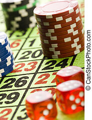 Chips - Casino - a place where you can win or lose money.