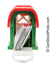 Letter Box on White Background