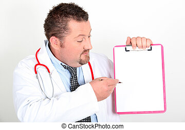 General practitioner with notepad