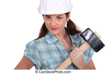 Woman with a sledgehammer