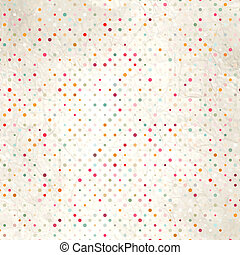 Colorful polka dot pattern on the cardboard. EPS 8