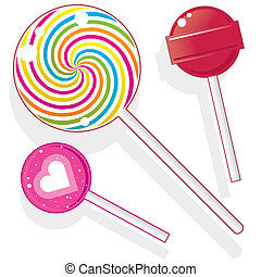 Lollipops and suckers vector - Lollipops and suckers. Vector...