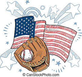 Americas obsession with baseball - Doodle style baseball...