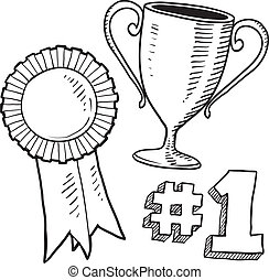 Awards sketch - Doodle style awards sketch in vector format...