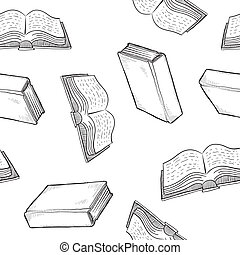 Seamless book background - Seamless book, library, or...