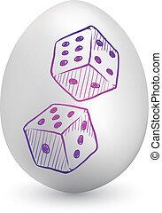 Gambling dice easter egg