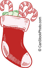 Christmas stocking sketch