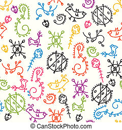 Abstract ethnic seamless bright pattern