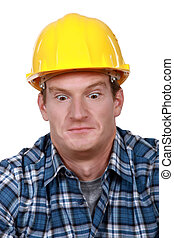 Shocked builder