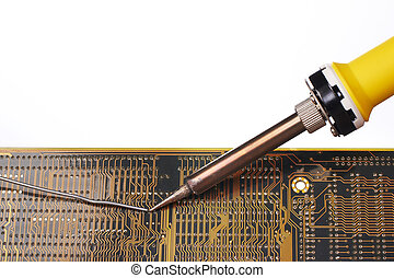 Soldering an electronic circuit - Soldering and repair an...
