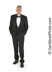 Well dressed - well dressed senior in black-tie