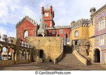 The Pena National Palace in Sintra, Portugal - The Pena...