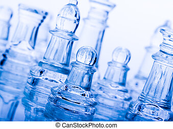 Glass chess - Chess - a game for two people that is played...