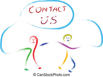 contact us kids - kids playing with contact us sign
