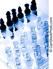 Brains battle - Chess - a game for two people that is played...