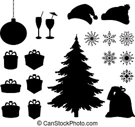 Christmas holiday objects - Set Christmas holiday objects....