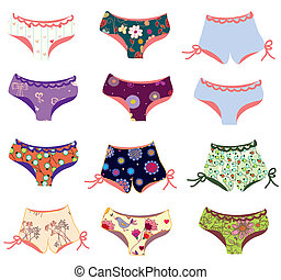 Panties funny setPanties funny set with patterns