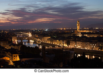 Night view of Florence