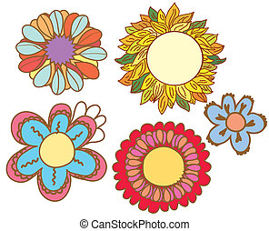 Flowers background set - frames