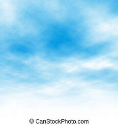 Cloud background - Editable vector illustration of light...