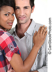 Mixed race couple
