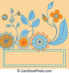 Flowers card with space for text