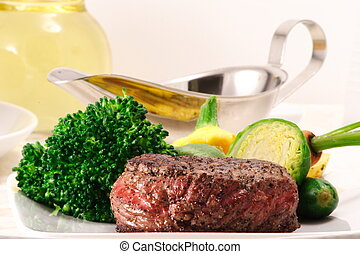 fillet mignon - delicious rich in protein and iron velvety...