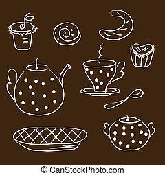 Tea set sketch