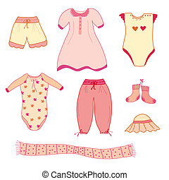 Collection of the cute baby girl clothes