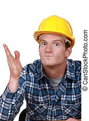 Tradesman looking ready to hit somebody